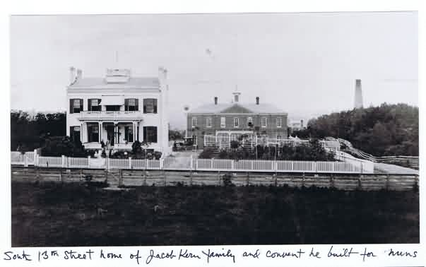 jacob kern family home he built next to the convent